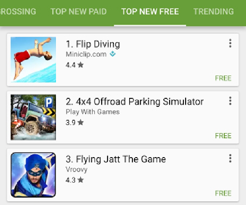A Flying Jatt In Most Downloaded Android Games