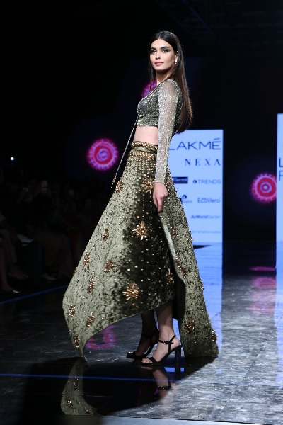 Mumbai Actress Diana Penty Walks The Ramp For Fashion Designers Shivan Narresh On Day 4 Of The Lakme Fashion Week Summer Resort 2020 In Mumbai On Feb 14 2020 Photo Ians