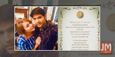 Kapil Sharma And Ginni Chatrath To Tie Knot On Dec 12, Shares His Wedding Card.