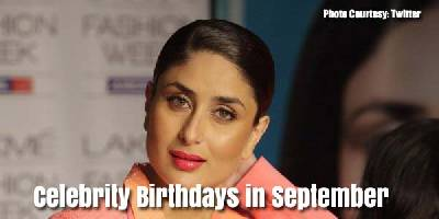 Famous Celebrities' Birthday in September